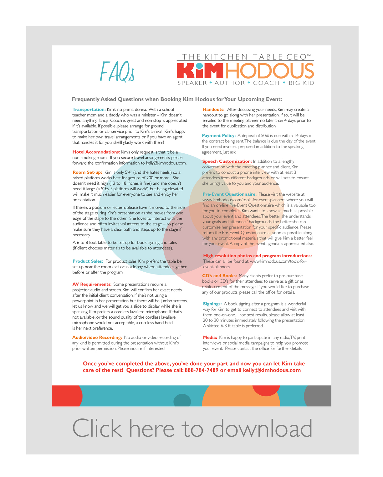 meeting planners kim hodous faqs